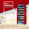 9 Tier Shoe Shelves Canvas Fabric Shoe Rack Storage Cabinet Rail Shoes Organizer Zipper Standing Sapateira Organizador Furniture (FS-02A)