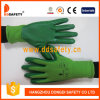 Green Nylon Green Nitrile Coating Safety Working Glove