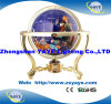 Yaye 18 Hot Sell Gold Color Stand 110mm/150mm/220mm/330mm World Globe with World Map