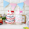 Design Quality Pet Tutu Skirt Layers Bowtie Cute Dog Dress