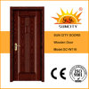 Latest Design Indonesia Solid Wooden Door (SC-W116)