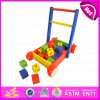 2016 New Fashion Baby Building Blocks Walker Toy, Multi-Function Wooden Baby Walker Toy, High Quality Cart Toy W16e025