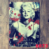 Outdoor Decorations 20*30cm Marilyn Monroe Tinplate