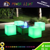 Fashionable Outdoor Furniture LED Illuminated Cube Stool