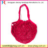 Small MOQ Rose Red 100% Cotton Mesh Fruit Net Bag with Your Label