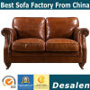 New American Village Casual Wooden Armchair and Indoor Genuine Leather Sofa (628)
