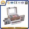 Classic Beauty Case with Drawer Aluminium Box (HB-1011)