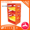 Plastic Library Bookcase Kids Portable Bookshelf for Creche