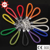 Factory Supply Colorful Hide Rope Leather Keychain for Gifts