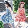 Pastoral Style Girl Floral Dress Fresh Printed Dress