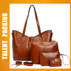 Factory Women Designer Ladies PU Leather 4 PCS Handbag Sets