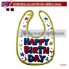 Baby Garment Customized Interlock Baby Bib Party Baby Goods (P1018)
