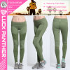 Custom Green Dye Compression Tights Women Pleated Leggings 2017