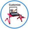 Mini Portable Aluminium Folding Sofa Laptop Table