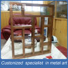Customized Brown Stainless Steel Boutique Display Rack Home Furniture