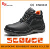 Black Cow Split Leather Steel Toe Cap Safety Shoes Price