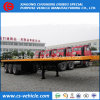 3 Axle 45FT/40FT Container Loading Flatbed Semitrailer Flatbed Trailer for Sale