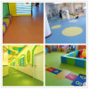 Manufacture Pure Color Design Kindergarten Best Price PVC Flooring