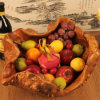 Newest Fashion Modern Design Crafts Fruit Wooden Bowl