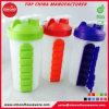 BPA Free Plastic Shaker Water Bottle with 7 Days Pill Box