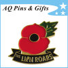Special Discount Custom Made Metal Awareness Pin with Red Poppy (badge-141)