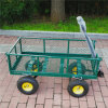 Heavy Duty Folding Mesh Tool Cart Garden Wagon