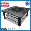 3 in 1 Outdoor Fire Pit BBQ Table Grill Patio Camping Heater Fireplace Brazier