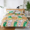 2020 New Design Hot Selling Small MOQ Home Textile Cartoon Printed 4 PCS Quilt Cover Bedsheet ...