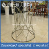 Mirror Gold 304# Stainless steel Customized Round Glass Tea Table