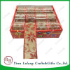Wholesale Red Jute Burlap Christmas Ribbon for Gift Wrapping