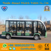Zhongyi High Quality 11 Seats Enclosed Electric Power Electric Shuttle Bus with Ce and SGS Cetification
