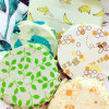 Reusable Natural Cotton Sandwich Beeswax Food Storage Wraps
