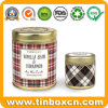 Round Metal Gift Box Candle Tin Container for Travel Set