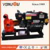 Diesel Engine with Silence Cabinet on Trailer Driven Self-Priming Water Pump