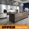 Sinter Rock E0 Modular Wood Wholesale Kitchen Cabinets with Island (OP14-068)