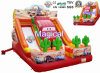 Hot Sale Amusement Game Kids Toy Inflatable Car Slide (MIC-947)