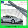 Sun Chrome Side Window Visor Vent Guards Rain for Citreon C5