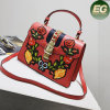 New Design Ladies Handbag Embroidery Flower Fashion Trendy Shoulder Bag for Woman Sy8140