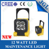Heavy-Duty LED Work Light 12W Square Rechargeable LED Light