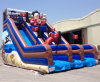 Lodumani Inflatable Double Lane Slip Stair Blow up Slide