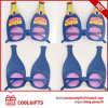 Fun Bottle Shape Sunglasses with Logo Print for Beer Festival