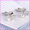 Silver Plated Propeller Brass Cufflink for Men