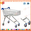 High Angle Wire Metal Supermarket Shopping Carts Trolley (ZHt256)