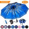 Folding Compact Umbrella, Inverted Woman Umbrella, Automatic Open Close, 10 Ribs