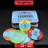 Crown Bronzing Poker Chip with UV Light (YM-CP003-004)