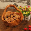 Exquisite Carving Handicrafts Wooden Bamboo Handicrafts Fruit Basket