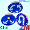 Ce Approved Aluminum Round Shape Solar Traffic Sign / Road Sign