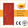 Cheap Interior Hot Designs Plain Carving Painted Wood Door (SC-W105)