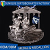 Customized Stamping Die Casting Metal Medal with Antique Brass Plating