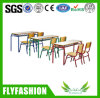 Wooden Double Elementary School Desk with Chairs (SF-34C)